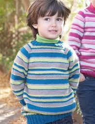 yarnspirations com patons kids top down striped sweater
