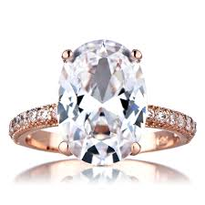 4 carat cubic zirconia engagement rings blush oval cut 5 carat goldtone cz engagement ring