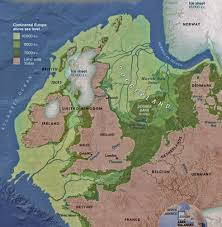 North Europe Map by North West Europe 16 000 Years Ago British Isles Sea Level