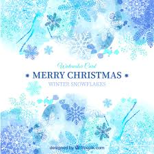 blue christmas blue christmas card in watercolor style vector free