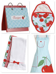 adorable aprons home entertaining partyideapros jessie steele kitchen cherry pattern aprons matching stuff