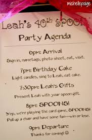 party agenda template