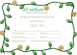 green flowers border gift certificate template beautiful
