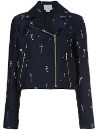 moto jacket grey jason wu faces jacquard moto jacket