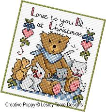 lesley teare designs traditional teddies cross stitch