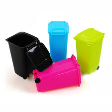 Small Desktop Trash Can Wish Office Desktop Mini Trash Can With Wheels Housed Creative