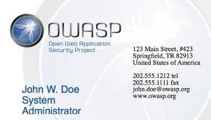 Us Government Business Cards Marketing Resources Owasp