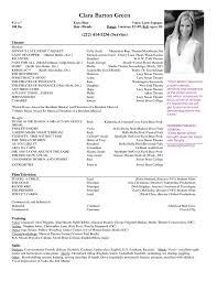 Movie Theatre Resume Theatrical Resume Format Theater Resume Template Theater Resume