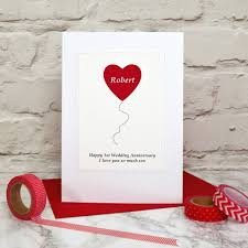 balloon personalised anniversary card by arnott cards