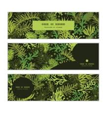 horizontal banner with tree royalty free vector