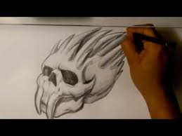 skull drawings easy things to draw youtube