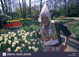 costume dutch flowers garden holiday holland europe