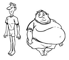 fat boy slim boy coloring pages netart