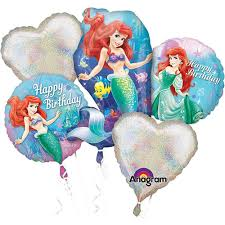 mylar balloon bouquet mermaid balloons ariel balloon bouquet 5