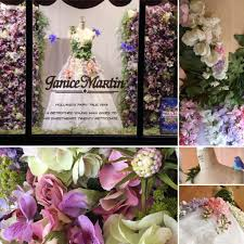 Win With Flower by Janice Martin Couture Window Display Wins U201cmost Creative U201d At The