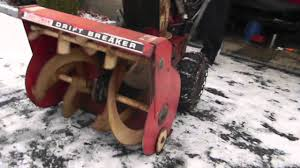 craftsman drift breaker snow blower youtube