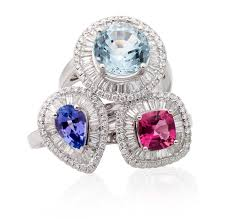 coloured gemstone rings images Coloured stone collection duffs jewellers png