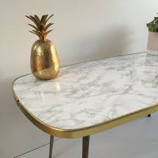 Marble Effect Coffee Tables Marble Effect Vintage Coffee Table 1950s Table Basse Vintage