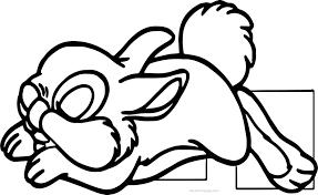 sleeping disney bambi thumber bunny cartoon coloring page