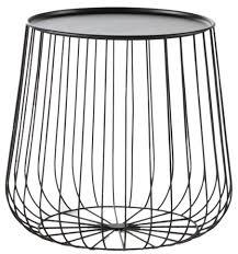 bout de canape bout de canapé cage fil métal mydecolab