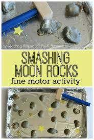 moon rocks fine motor activity pre k pages