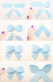 paper ribbons paper ribbon bow template steps zbal to wrap it