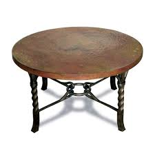 Vintage Coffee Tables by Antique And Vintage Round Metal Coffee Table With Brown Top And