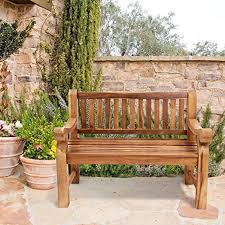 trueshopping kingsbridge teak garden patio bench solid wood