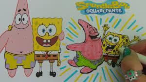 nickelodeon spongebob u0026 patrick kids how to color youtube