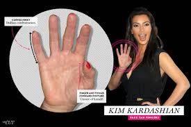 kim kardashian fake tan fingers 16 celebrity palm readings