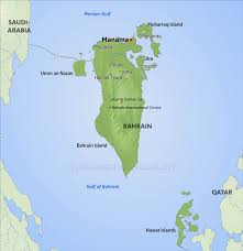 Map Of Persian Gulf Bahrain Physical Map