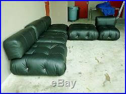 Bellini Leather Sofa 70 U2032s Italian B U0026 B Italia Mario Bellini Camaleonda Modular Black