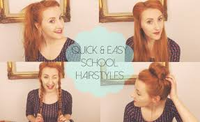 quick u0026 easy hairstyles for work uni youtube
