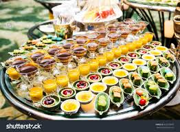 cocktail party variety desserts food decorated stock photo