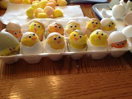 save egg shells rinse out and sanitize them dye cotton balls
