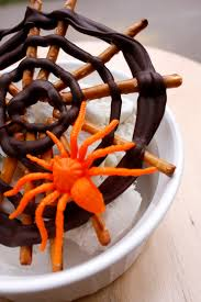 fast easy halloween spider web treat