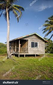 cabana house basic simple beach house cabana jungle stock photo 51436972