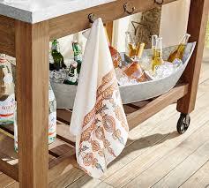 Pottery Barn Kitchen Towels Block Print Tea Towels Mixed Set Of 2 Pottery Barn