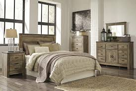 Ashley Bedroom Set With Leather Headboard Signature Design By Ashley Trinell Loft Bed With Stairs And Drawer