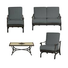 4 Piece Wicker Patio Furniture - hampton bay pembrey 4 piece all weather wicker patio conversation