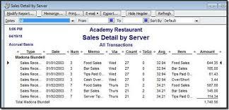 Quickbooks Chart Of Accounts Excel Template Quickbooks For Restaurants Accountex Report