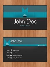 personal cards to hand out personal business card templates