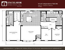 schult modular home floor plans schult independence 5632 86 excelsior homes west inc