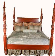 lexington king size traditional style four poster bed frame ebth