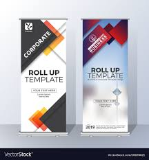 free printable vertical banner template vertical roll up banner template design royalty free vector