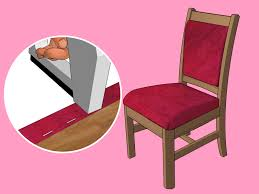 How To Upholster Dining Room Chairs by The Best Way To Reupholster A Chair Wikihow