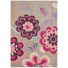 Kids Bedroom Rugs Girls Pink U0026 Purple Floral Kids Bedroom Rug Kukoon