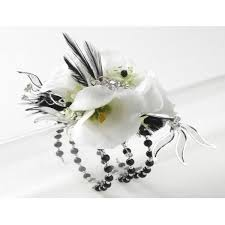 black and white corsage prom corsages corsage creations serena bracelet with orchids