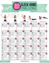 Doing Challenge 30 Day Sleek Arms Challenge Blogilates
