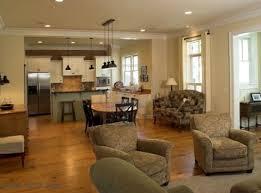 living room trendy modern living room and kitchen in open floor